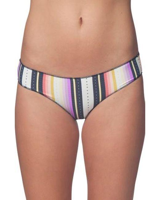 Rip Curl - Multicolor Sayulita Stripe Hipster Bikini Bottoms - Lyst