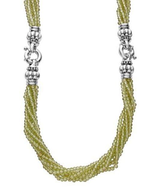 Lagos | Metallic Caviar Icon Bead Convertible Bracelet & Necklace | Lyst