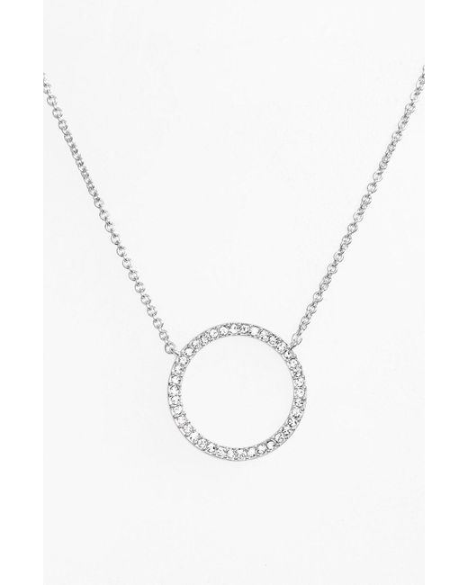 Nadri - Metallic Circle Pendant Necklace - Lyst