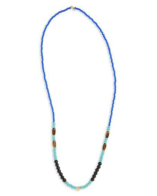 Luis Morais - Blue Bead Necklace for Men - Lyst