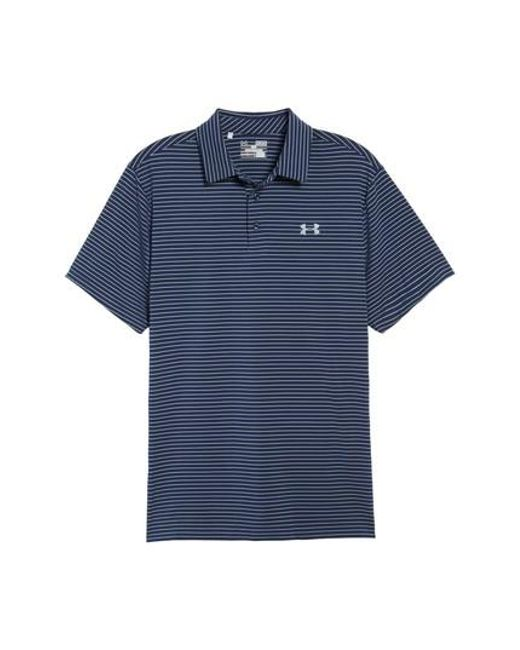 Under Armour - Blue 'playoff' Short Sleeve Polo for Men - Lyst