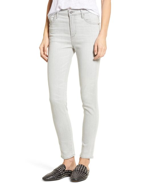 Citizens of Humanity - Gray Carlie High Waist Ankle Skinny Jeans - Lyst