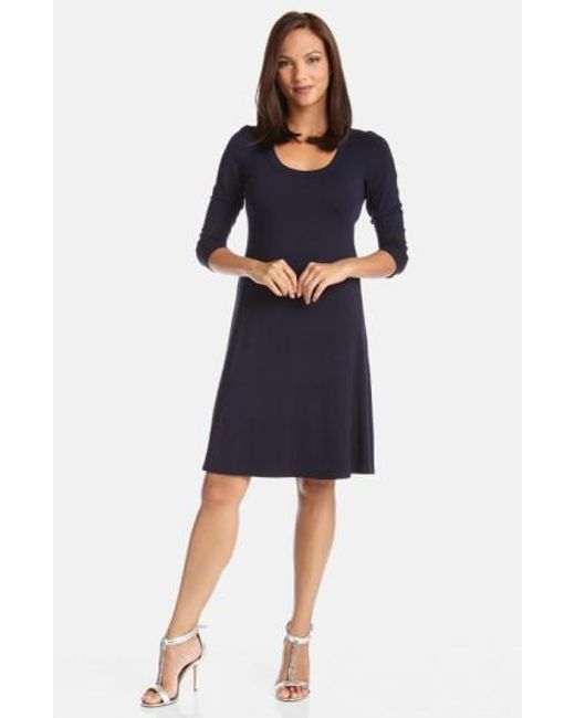 Karen Kane - Blue A-line Jersey Dress - Lyst