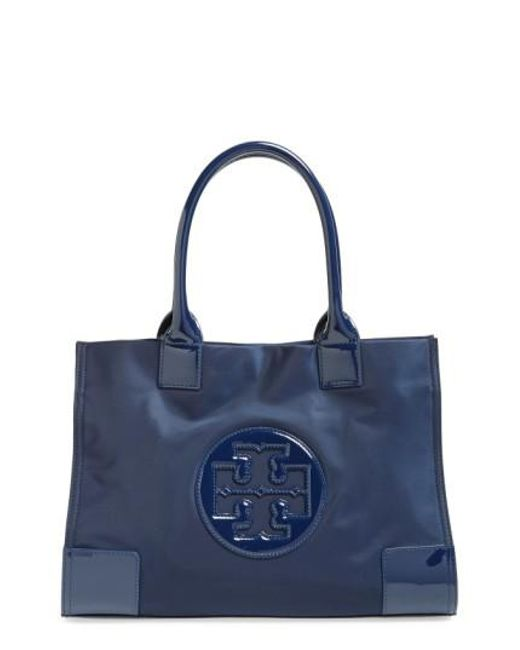 Tory Burch | Blue 'mini Ella' Nylon Tote | Lyst