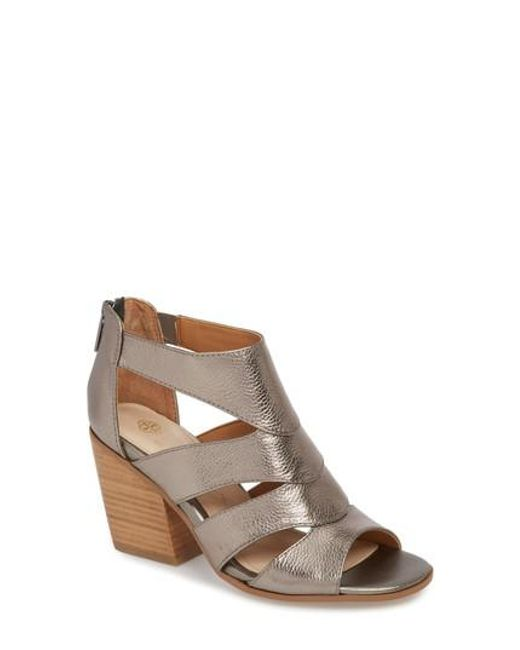 Rona Metallic Leather Block Heel Dress Sandals x7RpDrdJ