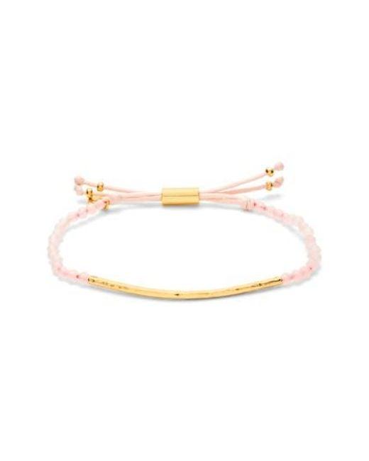 Gorjana | Pink 'power Stone' Semiprecious Stone Bracelet | Lyst