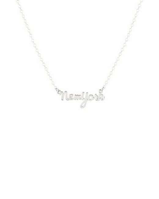 Kris Nations | Metallic State Script Charm Necklace | Lyst