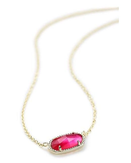 Kendra Scott | Purple 'elisa' Pendant Necklace | Lyst