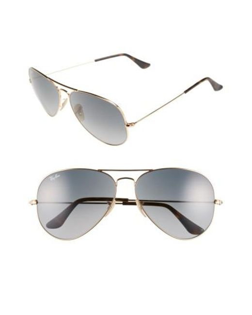 17ea0f5c1a ... Ray-Ban Metallic 62mm Sunglasses - Bronze Lyst ... factory outlet 01a42  447cc  Ray Ban RB3747 90353F Sunglasses Non-polarized ...