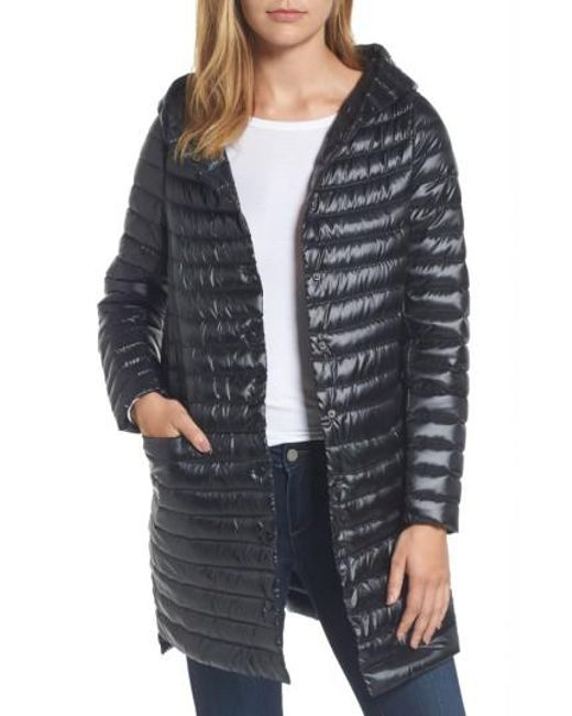 Sam Edelman | Black Reversible Down & Feather Fill Puffer Jacket | Lyst