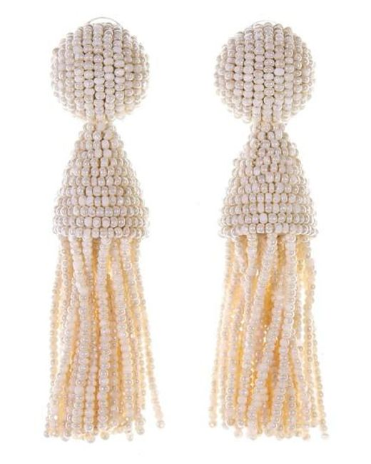 Oscar de la Renta   Metallic 'classic Short' Tassel Drop Earrings   Lyst
