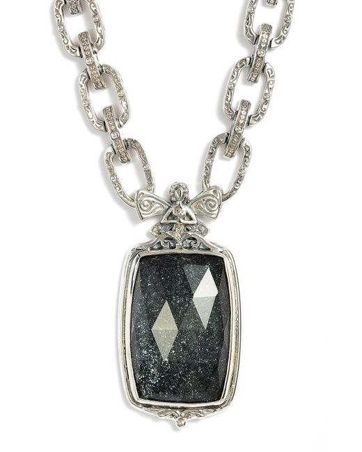 Konstantino - Metallic Santorini Hematite Pendant Necklace - Lyst