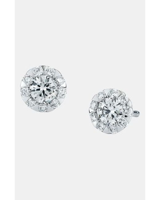 Kwiat | White 'sunburst' Stud Earrings | Lyst