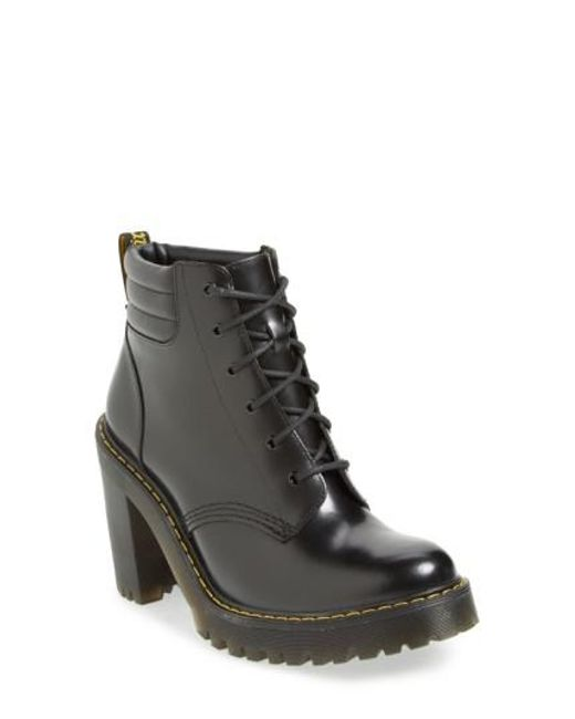 Dr. Martens - Black Persephone 6-Eye Leather Ankle Boots - Lyst