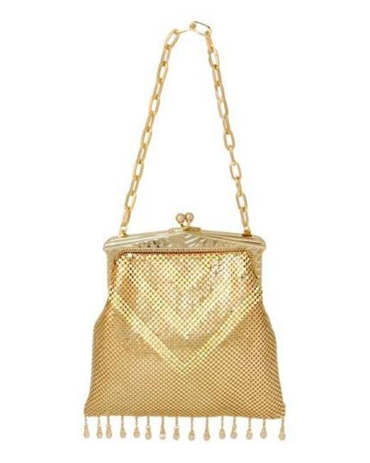 Whiting & Davis | 'Heritage - Deco' Mesh Handbag - Metallic | Lyst