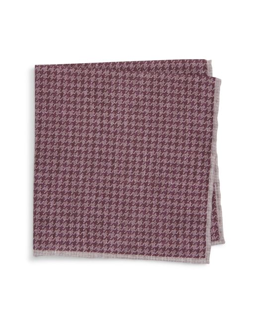 Eleventy - Purple Houndstooth Wool & Cotton Pocket Square for Men - Lyst