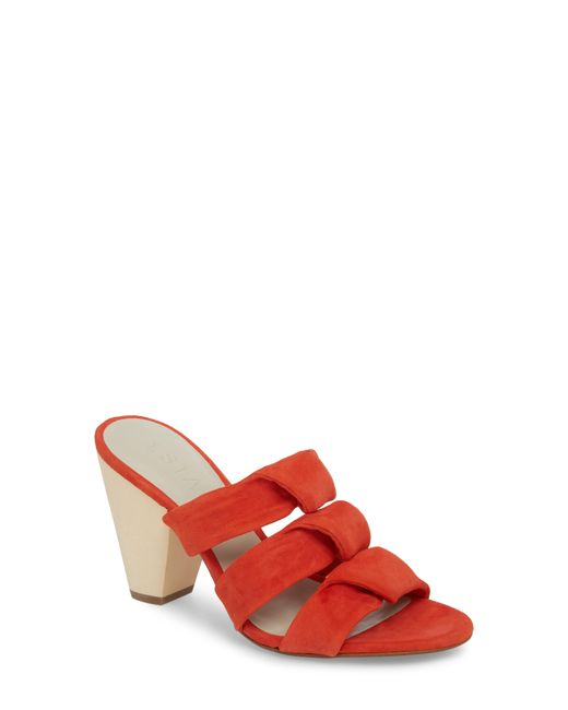 1.STATE - Red Aisha Heeled Mule - Lyst
