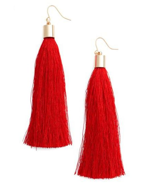 Adia Kibur | Red Tassel Earrings | Lyst