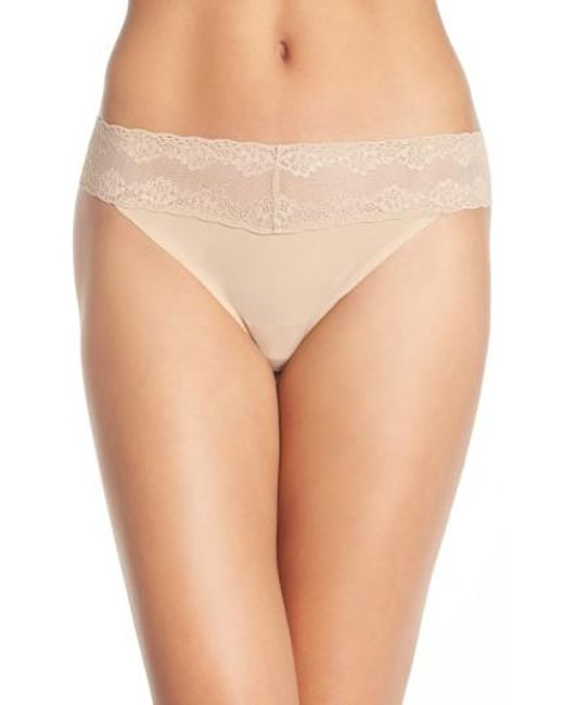 Natori | Brown 'bliss Perfection' Thong | Lyst