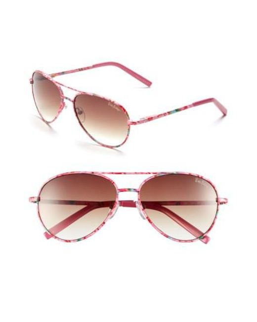 Lilly Pulitzer | Pink Lilly Pulitzer 'augusta' 57mm Sunglasses | Lyst