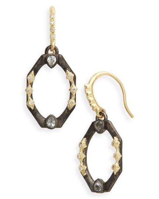 Armenta - Metallic Old World Octagonal Diamond & Sapphire Drop Earrings - Lyst