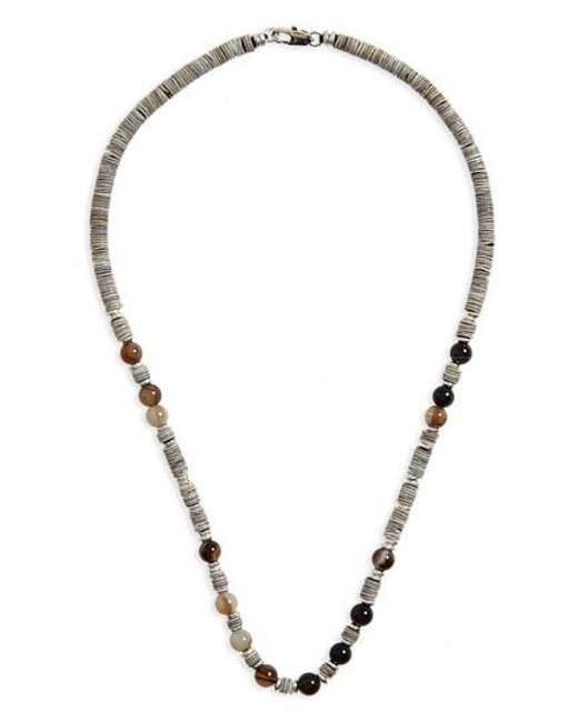 Link Up - Metallic Shell Bead Necklace - Lyst