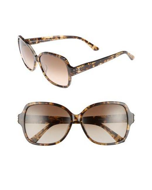 Juicy Couture | Natural Shades Of 57mm Square Sunglasses - Khaki Milk Havanna | Lyst