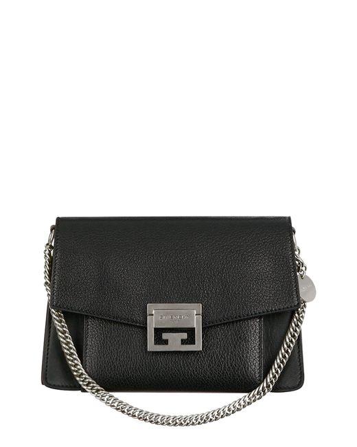 Givenchy Black Small Gv3 Leather Crossbody Bag