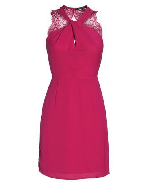 19 Cooper | Pink Lace Back Sheath Dress | Lyst