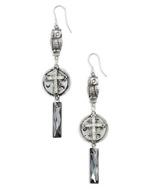 Virgins Saints Angels Metallic And Boreal Drop Earrings Lyst