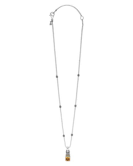 Lagos - Metallic 'caviar Color' Pendant Necklace - Lyst