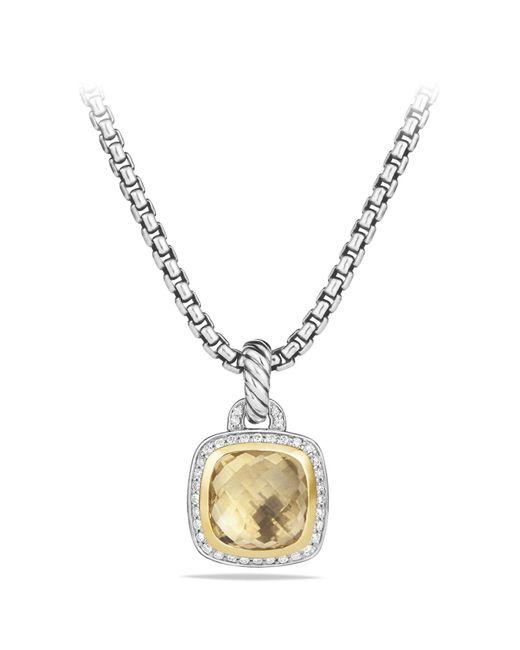 David Yurman - Metallic 'albion' Pendant With Diamonds And 18k Gold - Lyst
