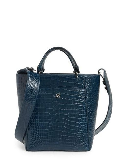 Elizabeth and James | Blue Small Eloise Leather Tote | Lyst