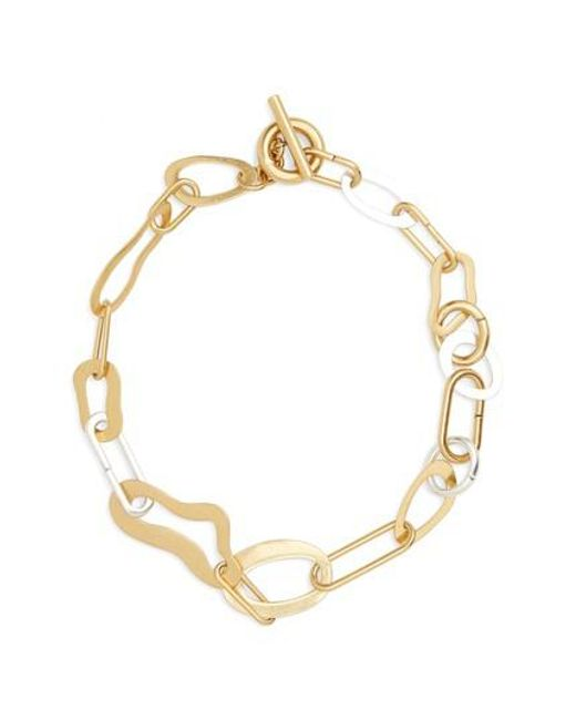 Madewell - Metallic Abstract Link Necklace - Lyst