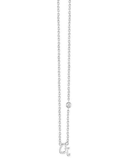 Shy By Sydney Evan   Metallic Diamond Initial Pendant Necklace   Lyst