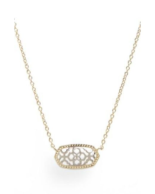Kendra Scott - Metallic Elisa Filigree Pendant Necklace - Lyst