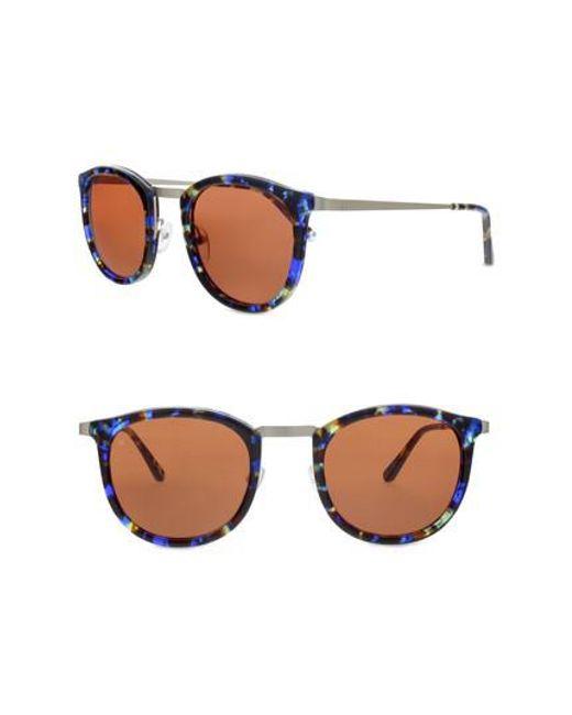 Smoke X Mirrors | Metallic Shout 49mm Retro Sunglasses | Lyst