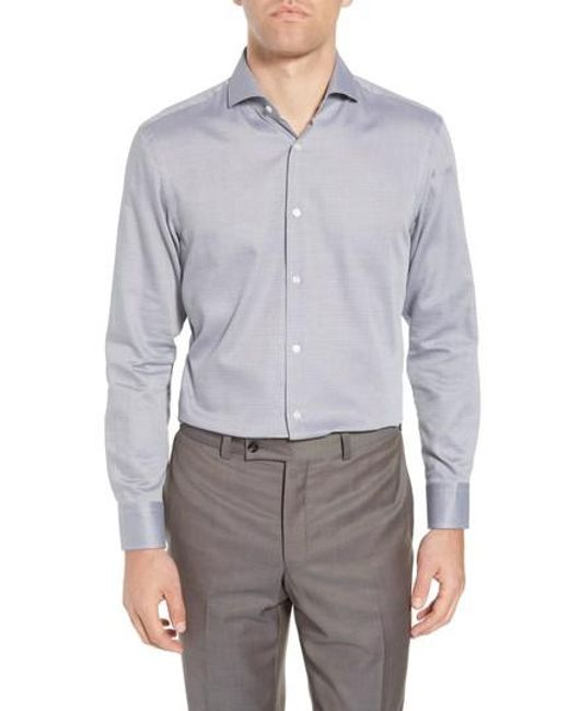 BOSS - Gray Sharp Fit Dress Shirt for Men - Lyst