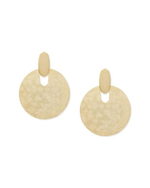 Kendra Scott - Metallic Didi Disc Earrings - Lyst