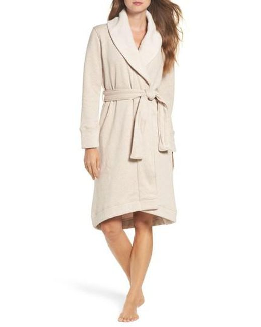Ugg | Natural Ugg Duffield Double Knit Robe | Lyst