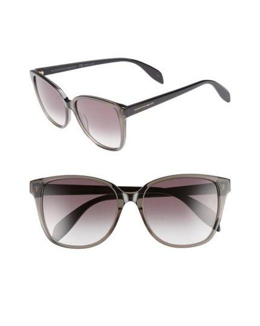 Alexander McQueen - Black 56mm Sunglasses - Lyst