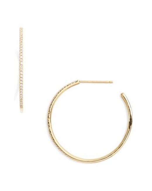 Bony Levy | Metallic Ella Diamond Hoop Earrings (nordstrom Exclusive) | Lyst