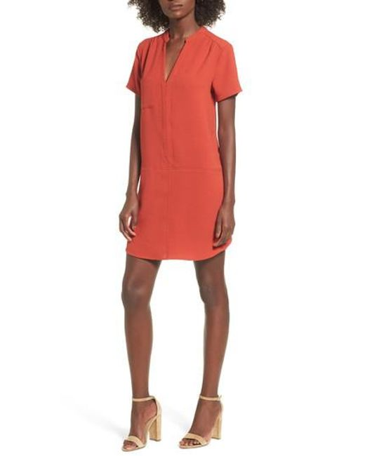 Lush | Red Hailey Crepe Dress | Lyst