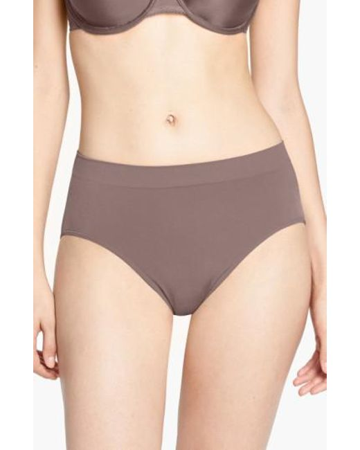 Wacoal - Brown B Smooth High Cut Briefs - Lyst