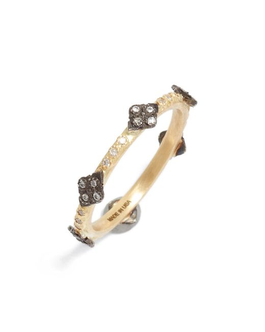 Armenta - Metallic Old World Diamond Station Ring - Lyst