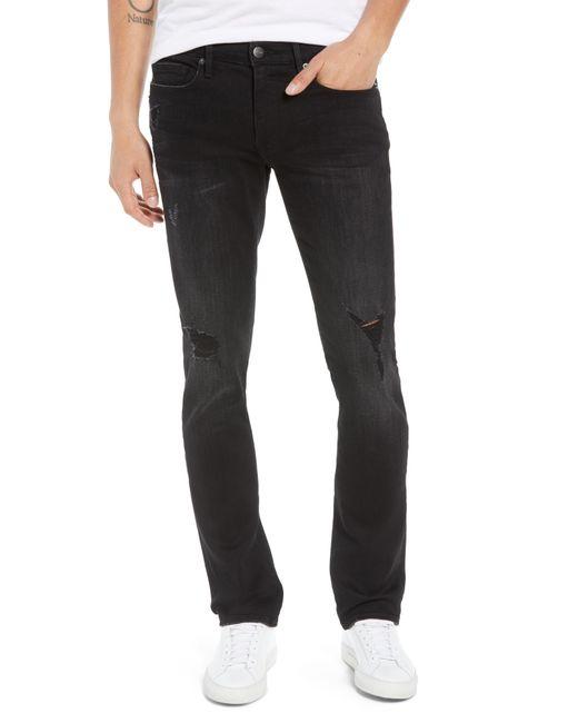 FRAME - Black L'homme Skinny Fit Jeans for Men - Lyst