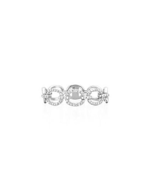 EF Collection - Metallic Flexible Chain Link Diamond Ring - Lyst