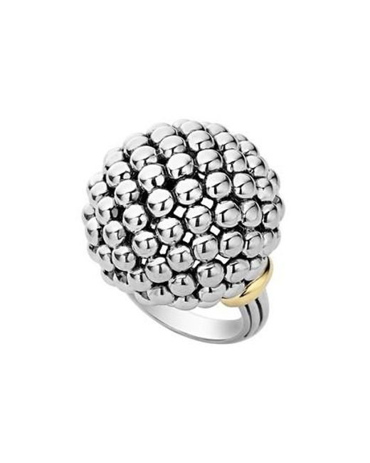 Lagos - Metallic 'caviar Forever' Large Dome Ring - Lyst