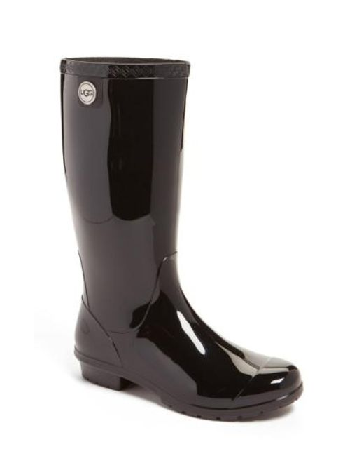 Ugg | Black Shaye Rubber Rain Boot | Lyst