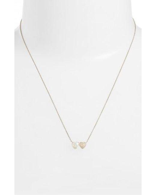 Dana Rebecca | Metallic Semiprecious Stone & Diamond Pendant Necklace | Lyst